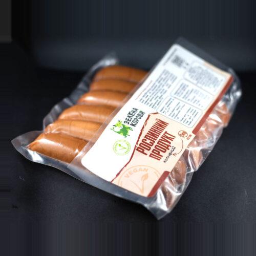 Рослинний продукт копчений у формі сосисок